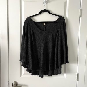 FREE PEOPLE / SPECKLED FLOWY TOP
